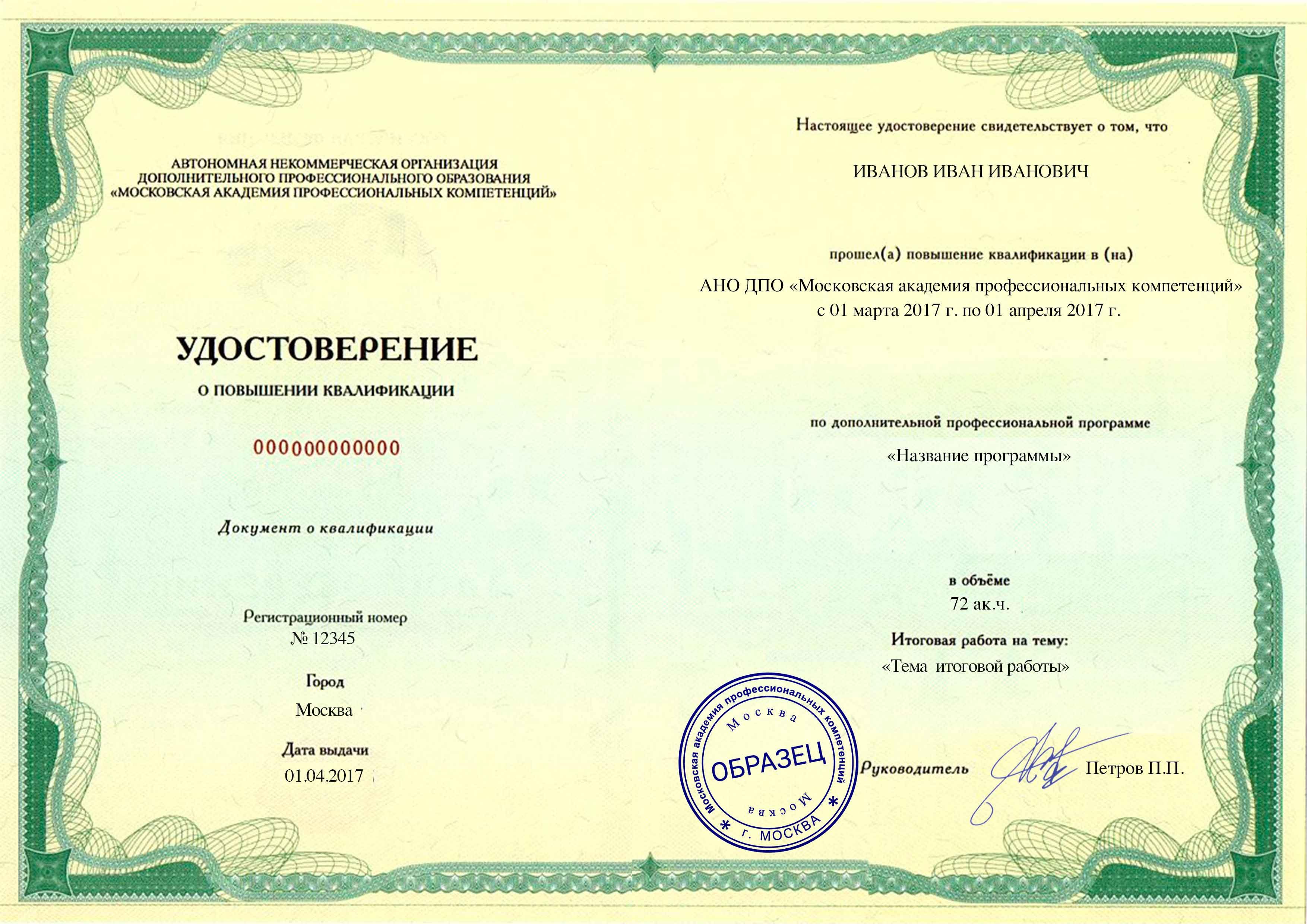 Повышение квалификации для воспитателей в москве противопожарная безопасность детских садиков